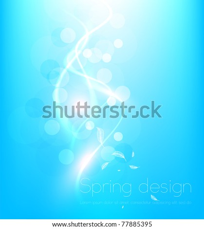 Luxury bright blue abstract greeting card. Vector summer sky background for design. Eps10.
