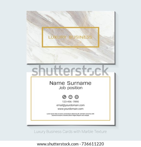 luxury business cards vector