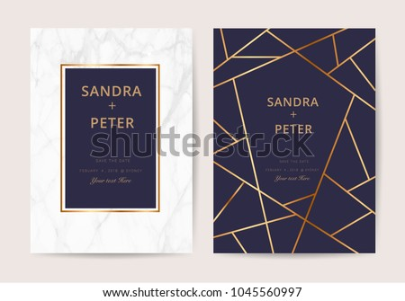 Free geometric business card vector template download free luxury business cards with marble texture and gold design for cover banner invitation reheart Choice Image