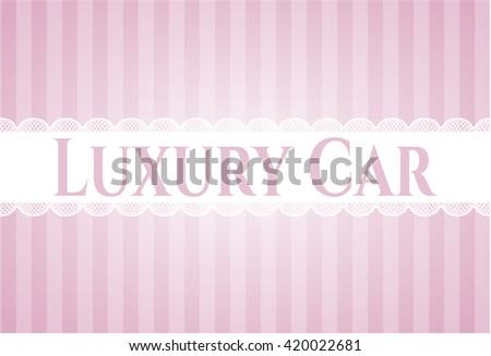 Luxury Car card with nice design