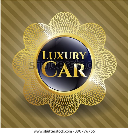 Luxury Car golden badge or emblem