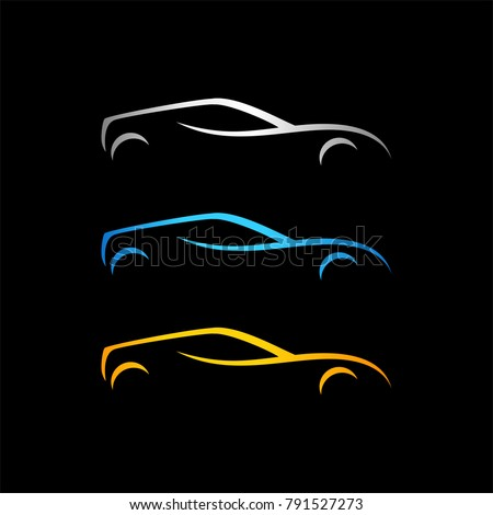 Set Of Car Silhouette Ez Canvas