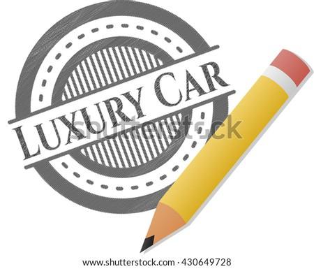 Luxury Car pencil strokes emblem