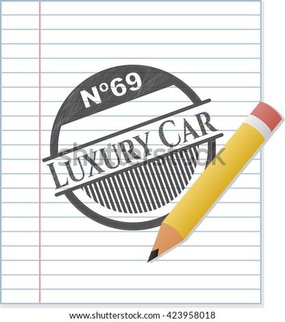 Luxury Car penciled