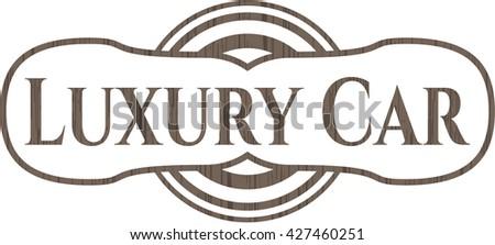 Luxury Car wood icon or emblem