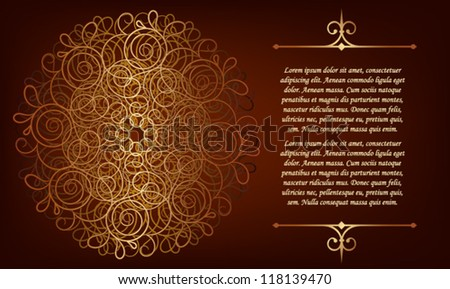 Luxury card with a gold monogram