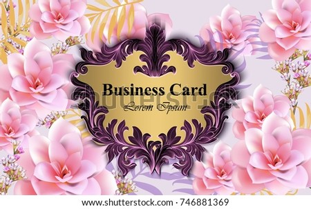 Luxury floral business card template vector design illustration luxury card with water lily flowers vector beautiful illustration for brand book business card reheart Image collections