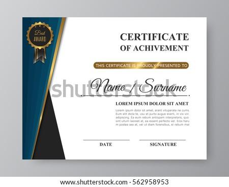 vintage elegant certificate of achievement download free vector