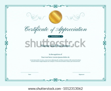 abstract green certificate of appreciation template download free