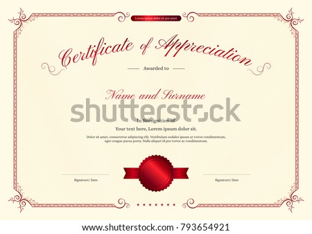 abstract diploma certificate of appreciation download free vector