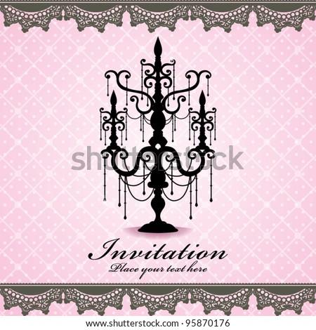 Luxury chandelier background (01) - stock vector