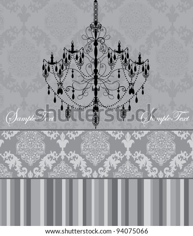 Luxury chandelier on floral background