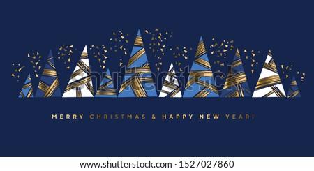 Luxury Christmas geometric pattern for card, header, invitation, poster, social. Geometry stock vector illustration. elegant festive New Year. Christmas abstract baubles elegant geometric header.