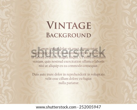 Luxury cream background with floral pattern