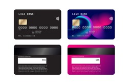 Luxury credit card template design. With inspiration from the abstract. Vector illustration. Credit debit card mockup