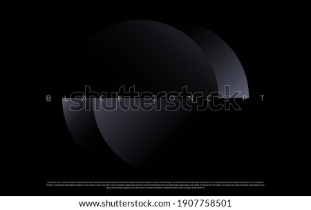 Luxury dark background design for website, poster, brand identity, brochure, presentation template etc. with futuristic geometric shapes. Vector EPS