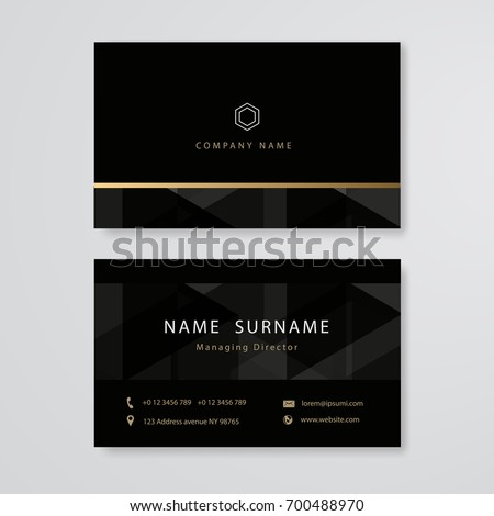 luxury design business card