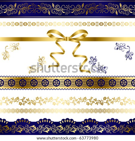 Luxury Design Elements Set. Illustration vector.