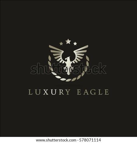 luxury eagle vector logo