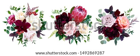 luxury fall flowers vector