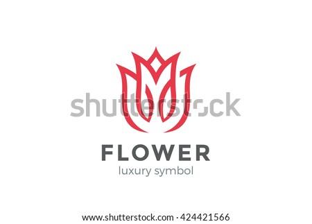 luxury fashion flower logo
