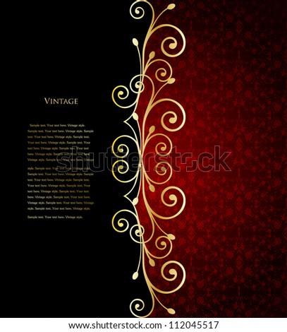 Luxury floral background. Vector illustration