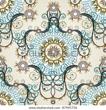Luxury floral vintage wallpaper