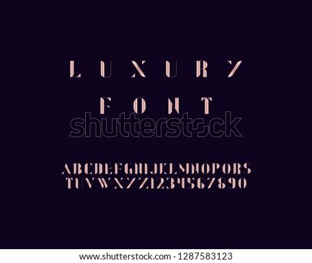 Luxury font set