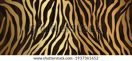 Luxury Gold animal skin abstract background vector. Exotic animal skin with golden texture. Leopard skin, zebra and tiger skin vector illustration.