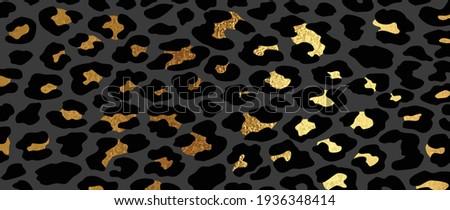 luxury gold leopard skin