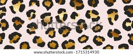 luxury gold leopard texture