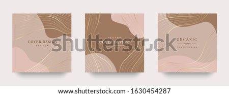 Luxury Gold Social media stories and post , Vector invitation design with golden brush, Gold Powder and blue watercolor decoration style background vector