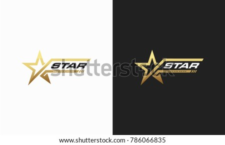 Luxury Gold Star logo designs template, Elegant Star logo designs