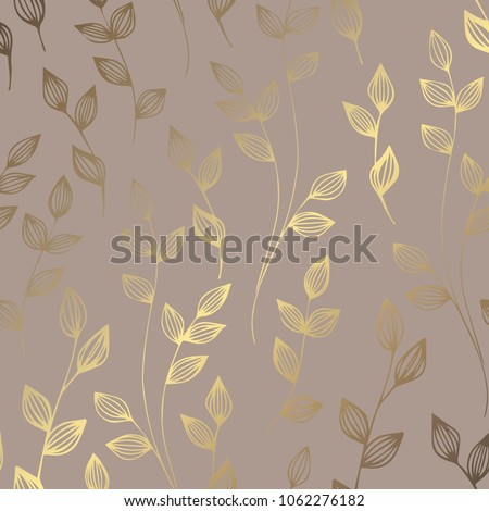 Luxury golden floral pattern on a brown background. Elegant decorative vector pattern for the design of invitations, cards, covers, business cards.