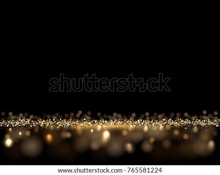 luxury golden glittering dark