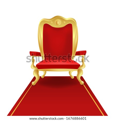 luxury golden king throne chair
