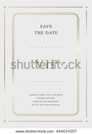 Luxury golden vector invitation card template
