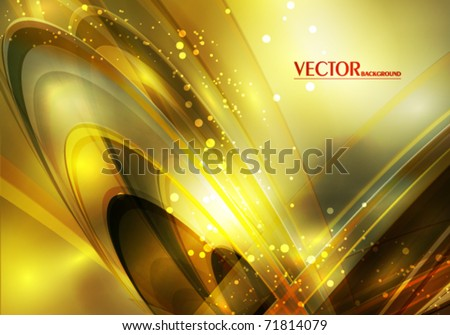 Luxury greeting card with lighting effect in retro style. Vector
