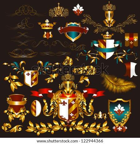 luxury heraldic elements for