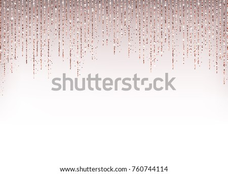 stock-vector-luxury-holiday-background-with-rose-gold-glitter-confetti
