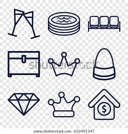 luxury icons set set of 9