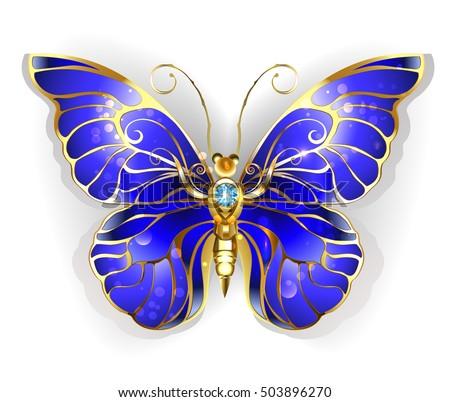 luxury  jewelry  gold butterfly
