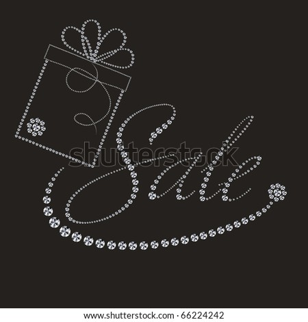 luxury label with gift box