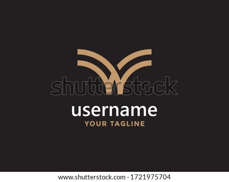 Luxury letter w logo design, abstract universal symbol for any related business Zdjęcia stock ©