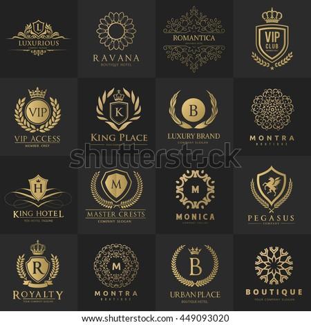 Luxury logo collection,Design for Boutique hotel,Resort,Restaurant, Fashion brand identity.