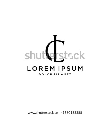 luxury logo design or monogram or initials CL Photo stock ©