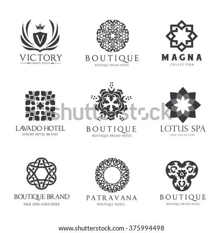 Royal Modern Monogram Logo Vector Template Hotel Logo Kings Symbol 378342772