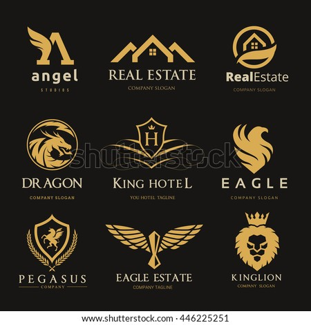 luxury logo set for real estate