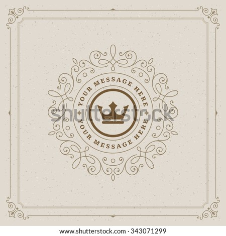 Luxury Logo template flourishes calligraphic elegant ornament lines. Business sign, identity for Restaurant, Royalty, Boutique, Cafe, Hotel, Heraldic, Jewelry, Fashion and other vector illustration