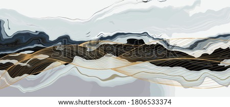 Luxury marble texture background design vector. Liquid marble texture with gold lines art creative wallpaper design for posters, business cards, invitation, art deco. vector illustration.